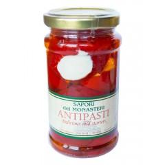 """Красный перец """"черри"""" фаршированный брынзой в подсолнечном масле, 250 мл. ст.б."""